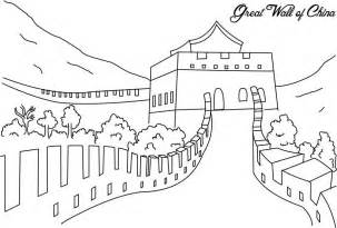 great sheets the great wall of china coloring page for kids