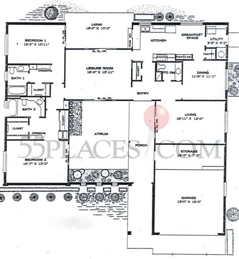 single family floor plans single family home 66 floorplan 1860 sq ft sun city