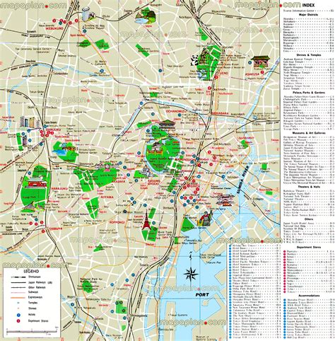 tokyo map tourist attractions tokyo map tourist information center easy overview map