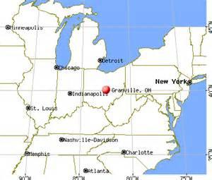 Granville Ohio Map by Granville Ohio Oh 43023 43055 Profile Population