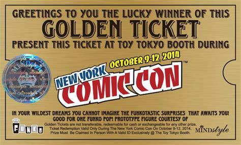 Golden Ticket Sweepstakes - toy tokyo nycc golden ticket prototype giveaway