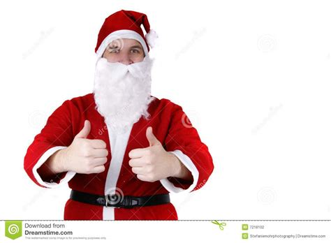 santa claus thumbs up santa claus with thumbs up stock photo image of nicholas 7218102