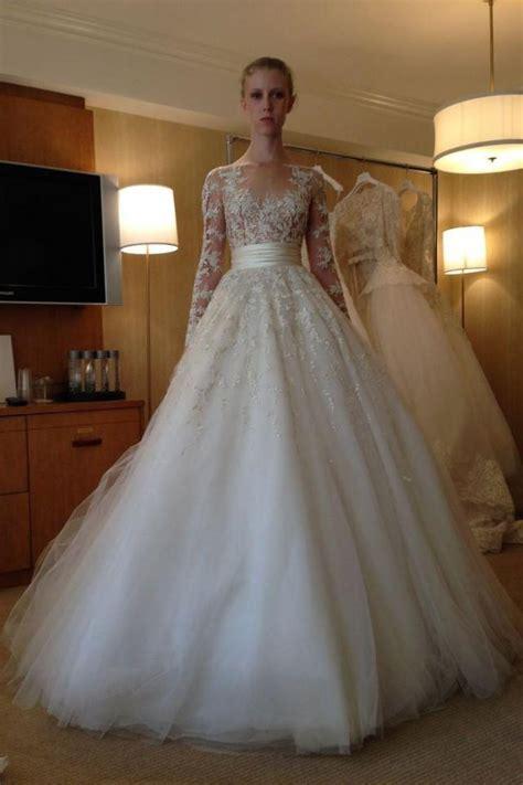 arrival long sleeve wedding dresses lace applique