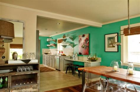 Kitchen Paint Accent Wall How To Work With Turquoise To Create Chic Interior Designs