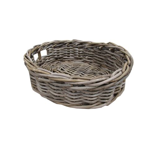 rattan baskets buy grey rattan oval storage baskets online from the
