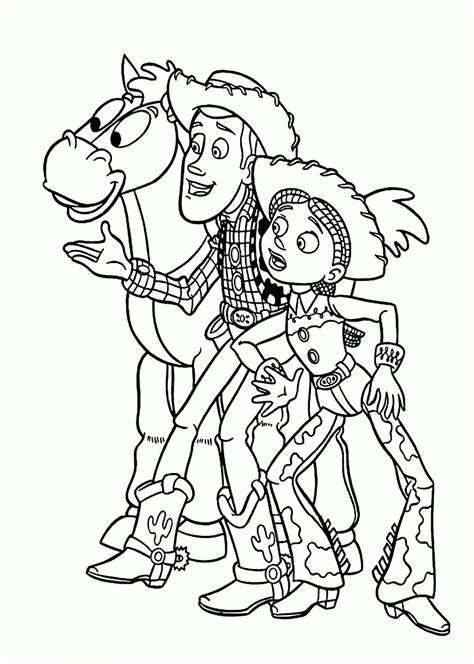 toy story jessie coloring pages free az coloring pages