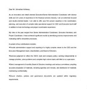 Senior Executive Cover Letter executive assistant cover letter 9 free documents in pdf word