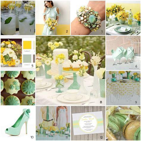 mint green and gold wedding   Inspiration: Lemon   Mint