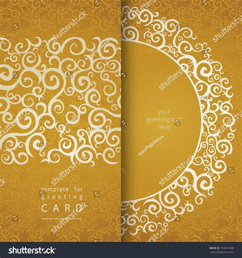 invitation card design gold vintage invitation cards lace gold ornament stock vector