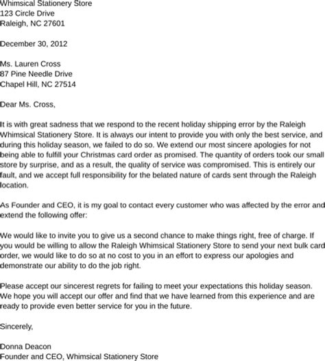 apology letter examples formtemplate