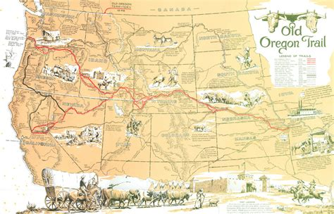 map of oregon trail oregon trail picture story miss s history class