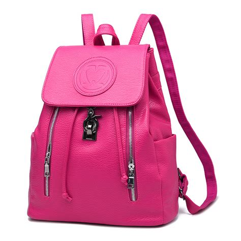 7 Fashionable Bags For School by School Backpack 2016 Pu Leather Backpack