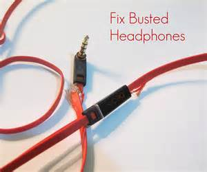 how to repair busted headphones
