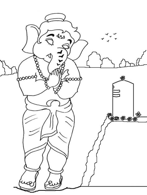 free coloring pages of ganesh for kids