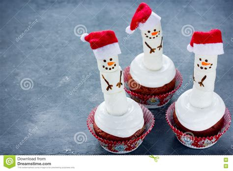 snowman cupcakes stock photo image of food holiday