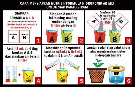 Nutrisi Hidroponik Selain Ab Mix tips membuat larutan stok ab mix hidroponiq