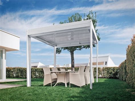 rattan pavillon aluminium pergola with adjustable louvers flap cabrio by