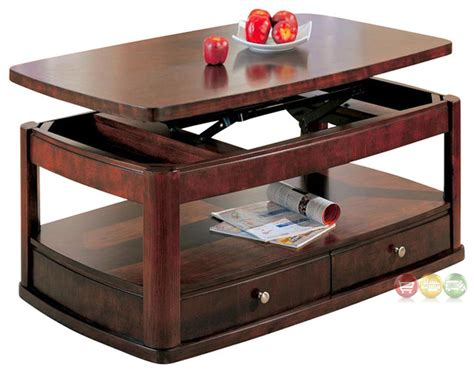 coffee tables with drawers storage merlot coffee table with lift top and storage drawers