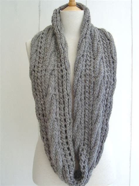 infinity scarf knitting pattern beginners knitting pattern infinity scarf with cable lace easy beginner