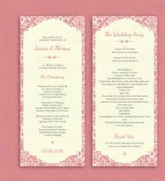 Wedding Ceremony Program Templates by 18 Wedding Program Templates Free Psd Ai Eps Format