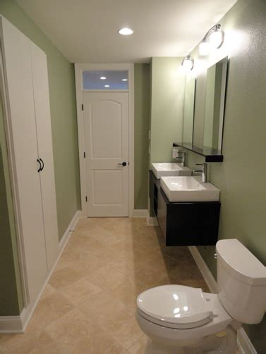 basement bathroom remodel basement renovation project port washington wi 53074