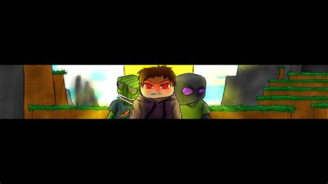 minecraft youtube banner template