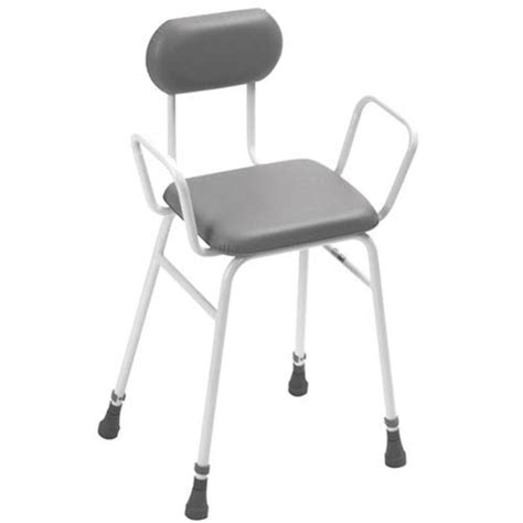 Padded Stools With Backs by Height Adjustable Perching Stool With Padded Back