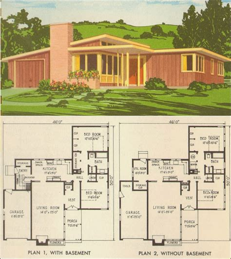 mid century modern homes floor plans mid century modern house plans for pleasure ayanahouse