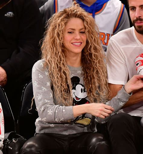 Shakira Gamis shakira takes family to the new york knicks vs philadelphia 76ers at
