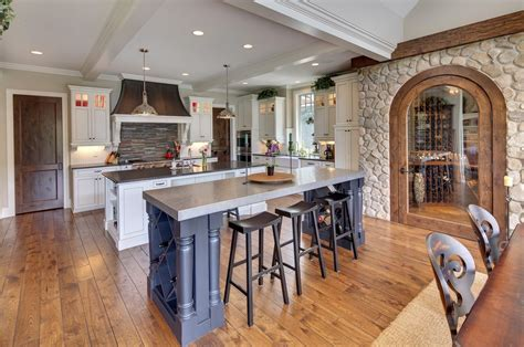stone accent wall kitchen farmhouse with kitchen sink in
