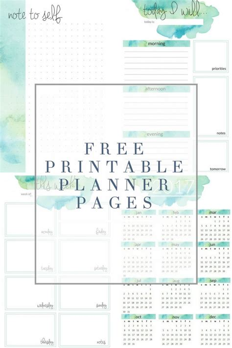free printable household planner pages best 25 free printable planner ideas on pinterest