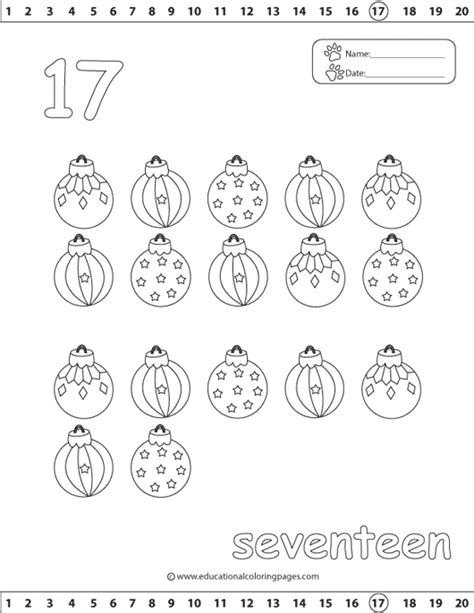 Coloring Number 17 Preschool Worksheets Coloring Best - number 17 coloring page getcoloringpages