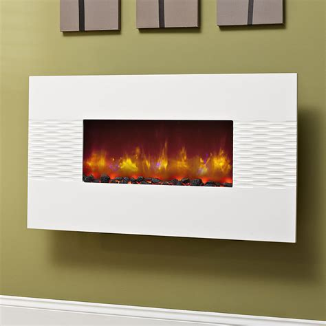 electric wall fires modern be modern orlando gloss white hang on the wall electric
