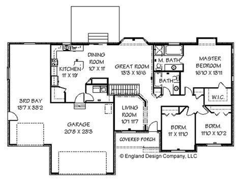 Large Ranch Floor Plans Cape Cod House Ranch Style House Floor Plans With Basement Large Ranch Home Plans Treesranch