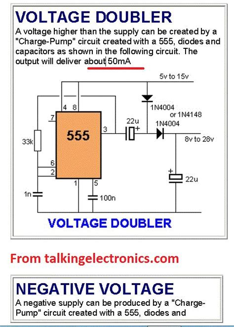 voltage doubler integrated circuit the back shed simple battery charger