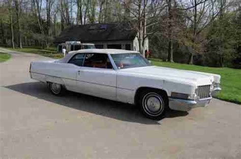 1970 Cadillac 2 Door by Purchase Used 1970 Cadillac Convertible 2 Door 7 7l In Wheeling West Virginia United