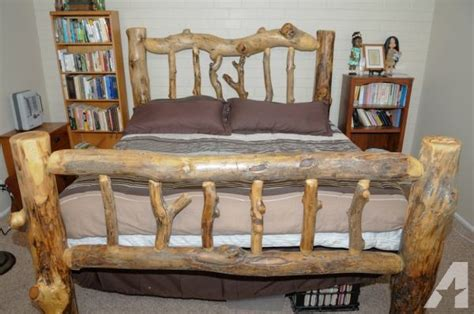 king size log bed king size designer aspen log bed provo for sale in