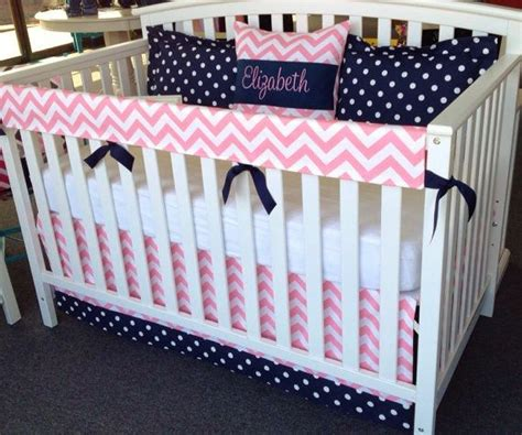pink and navy crib bedding 4pc crib bedding set navy blue pink white by leahashleyokc