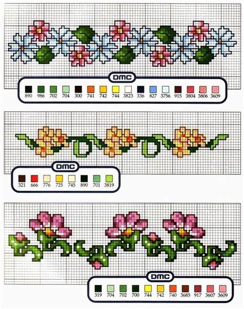 cornici fiorite schema punto croce cornicette fiorite jpg 612 215 777