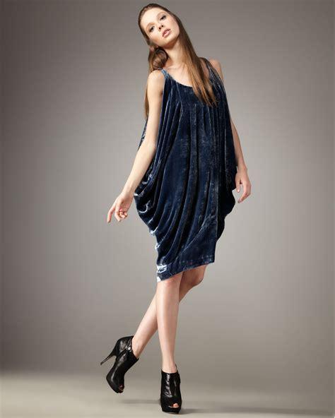 kelly wearstler kelly wearstler dendrobium velvet dress in blue lyst