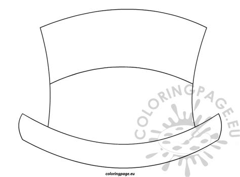 hat templates top hat wand coloring page coloring pages