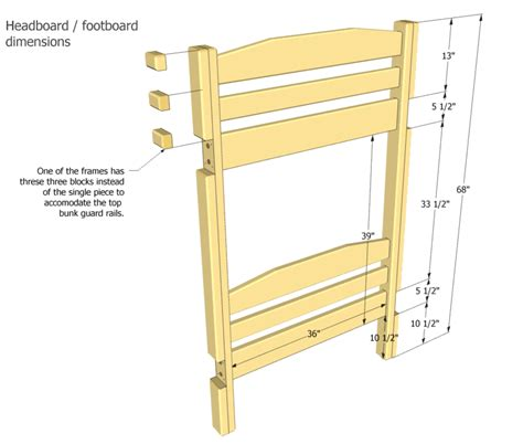 bunk bed dimensions bunk bed plans