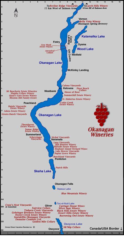 printable map kelowna okanagan wine route snowbird destinations