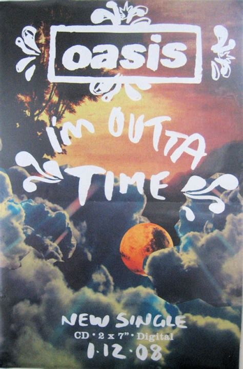 oasis posters original oasis outta time giant promo post
