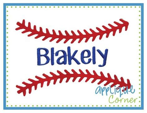 baseball pattern font baseball stitches for name embroidery design embroidery