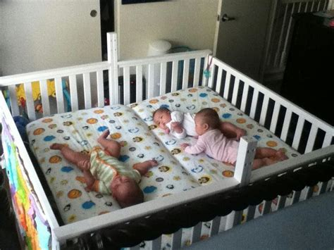 baby beds for twins two cribs screwed together to make a twin crib baby
