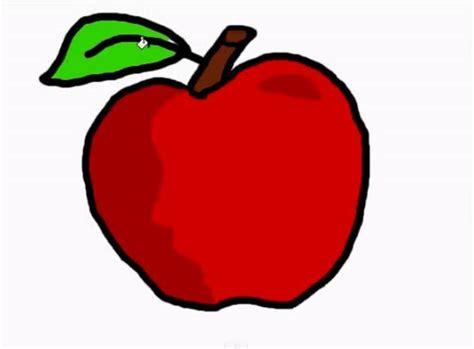 imagenes animadas manzana dibujos de manzanas para colorear e imprimir paso a paso
