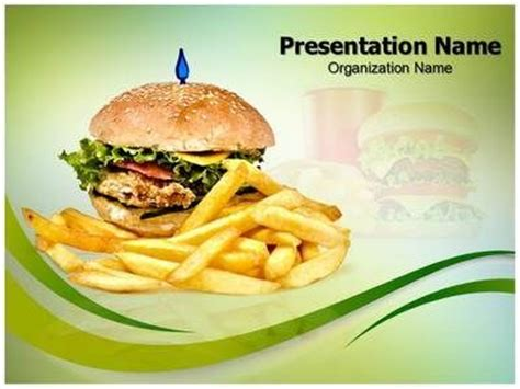 fast food powerpoint template our state of the fast food ppt template