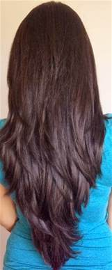 step cut hairstyle for hair back view nail