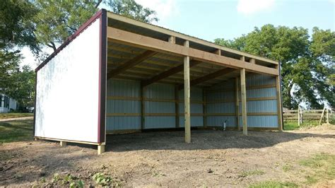 dominic shed pole barns  lean